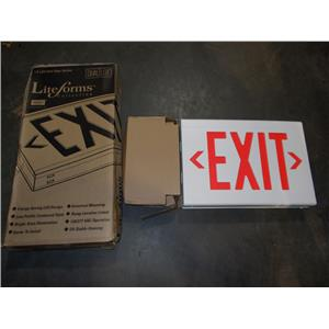 Hubbell Lighting Thermoplastic LX LED Exit Sign Dual Lite LXURWE 120/277V