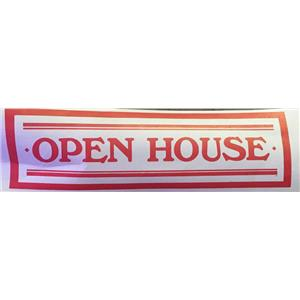 "Large 18"" X 72"" OPEN HOUSE Banner SIGNage Graphics Sign"