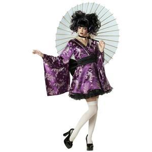 Lovely Lolita Purple Kimono Adult Costume Small