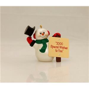 Hallmark Colorway / Repaint Ornament 1999 Millennium Snowman - #QX8059C-NOBX