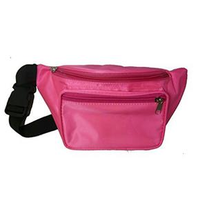 Neon Pink 80's Fanny Pack Waist Carrier Costume Accessory