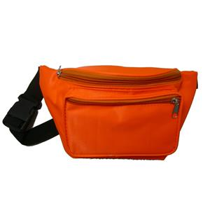 Neon Orange 80's Fanny Pack Waist Carrier Costume Accessory