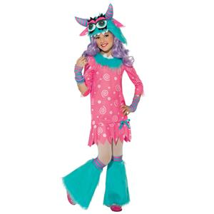 Rubie's Girl's Pink White Blue Bedtime Monster Child Costume Large 12-14