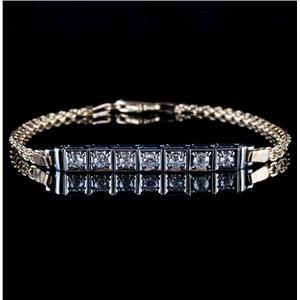 Vintage 1920's Platinum & 14k Yellow Gold Old Mine Cut Diamond Bracelet .69ctw