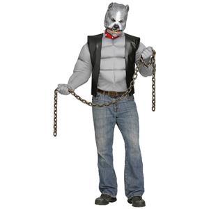 Fun World Men's Pit Bull Biker Dog Standard Size Costume & Mask