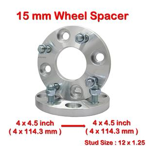 (2) 15mm 4 Studs 12x1.25 PCD 4x114.3 To 4x4.5 CB67.1 Wheel Spacer Spacers