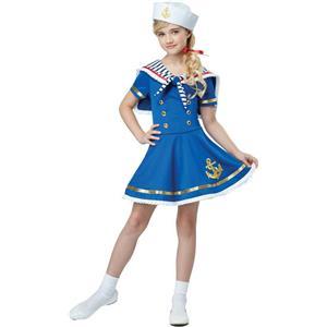 Sunny Sailor Girl Kids Costume Size Small 6-8