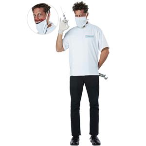 Doctor Novocaine Creepy Scary Killer Dentist Adult Costume Large/X-Large 42-46