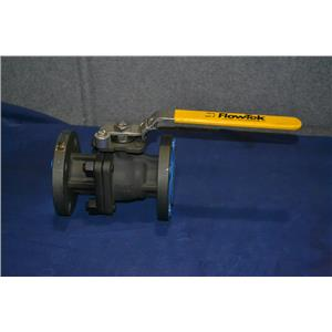 "FLOW-TEK F15 FLANGED BALL VALVE 1 1/2"" W4H1022 Carbon Steel Body, Stainless Ball"