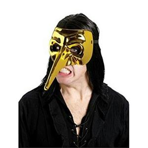Fun World Gold Chrome Venetian Raven Mask