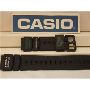 Casio Watch Band ATC-1000 Triple Sensor Pro Trek Blk Strap w/Green Wht Graphics