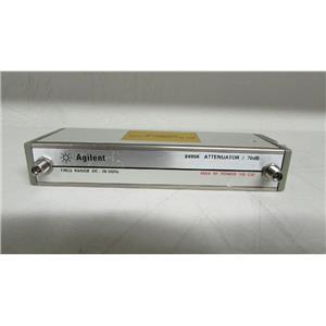 Agilent HP 8495K Step Attenuator, DC-26.5GHz, 0-70dB, 10dB step, opt 004