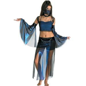 Meannie Genie Harem Girl Sexy Belly Dancer Young Adult Costume Teen 7-9