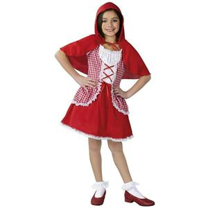 Fun World Girl's Red Riding Hood Child Costume Size Small 4-6