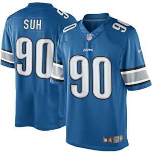 Nike NFL Detroit Lions Ndamukong Suh Men's Light Blue Team Color Limited Jersey