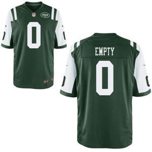 Men's New York Jets Nike Green Custom Game Jersey