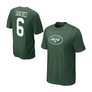 Nike NFL New York Jets Mark Sanchez #6 Green T-shirt