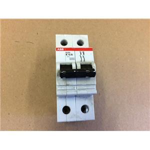 ABB S272K10A S272-K10A Circuit Breaker 10Amp 2Pole 277/480VAC