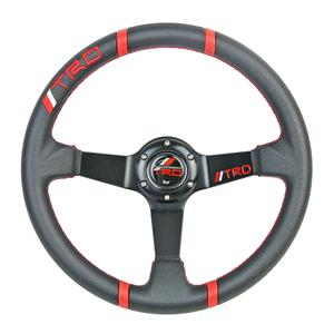 350mm PVC Leather Deep Dish Racing Steering Wheel Fit MOMO SPARCO OMP Boss Kit