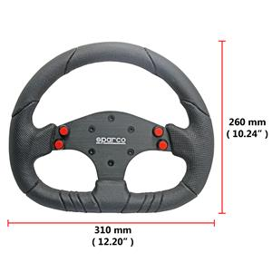 310mm D Shape Alloy Spoke PU Racing Steering Wheel Fit MOMO SPARCO OMP Boss Kit