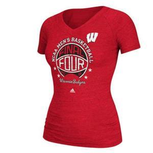 Women's Wisconsin Badgers NCAA Men's Basketball Tournament Final Four T-Shirt