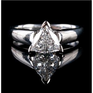"Platinum Trillion Cut ""G"" Diamond Solitaire Engagement Ring 1.50ct"