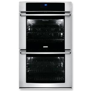 ELECTROLUX EW30EW65PS 30 Inch Double Electric Wall Oven Stainless and black