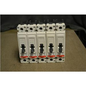LOT OF 5 CUTLER HAMMER FD1020 INDUSTRIAL CIRCUIT BREAKERS 1 POLE 277V 20A FD 35K