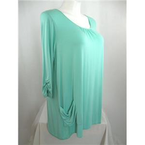 LOGO by Lori Goldstein Size 1XP Petite 3/4 Sleeve Knit Top in Mint