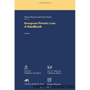 3 BRAND NEW 600 page European Private Law: A Handbooks by Mauro Bussani -A