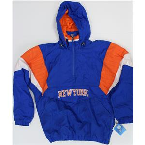 NY Knicks Jacket NBA Original Blue and Orange by Starter
