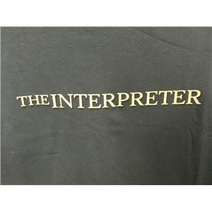 The Interpreter 2005 Drama Movie Memorabilia Blue Adult T-Shirt XL