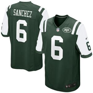 Nike NFL New York Jets Mark Sanchez #6 Game Green Youth Jersey