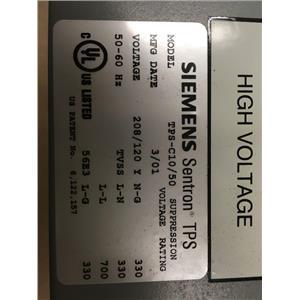 Siemens TPS-C10/50 Sentron TPS 50kA Surge Suppressor