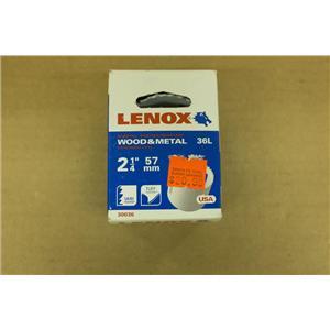 "Lenox 30036 36L 2-1/4"" 57mm Bi-Metal Wood and Metal Hole Saw"