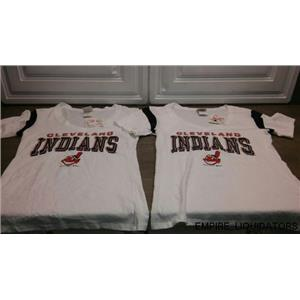 2 MLB Women's Cleveland Indians T-shirt w/ Tags (SIZE MEDUIM) - NEW