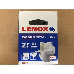 "Lenox 30036 36L 2-1/4"" 57mm Hole Saw"