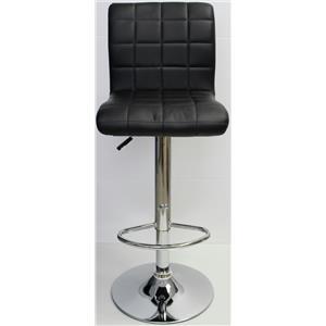Bar Stool Adjustable Height Swivel Set of 2