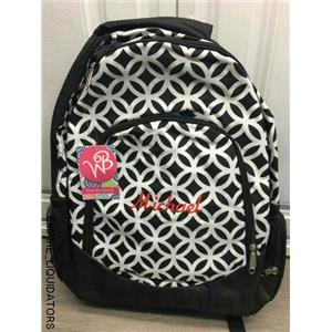 New ABABY Personalized Black/white Backpack (boy) Michael w/Tags -A