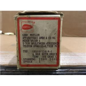 GEMU Gebr. Mueller 105/6/12014-1 220V 50HZ Valve