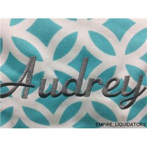 Ababy (GIRL) Pesonalized Bookbag in Teal & White w/ Tags ( AUDREY) -A
