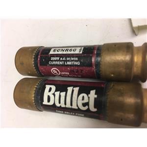 (Lot of 2) Bussmann ECNR60 Bullet Fuse 60A 250V
