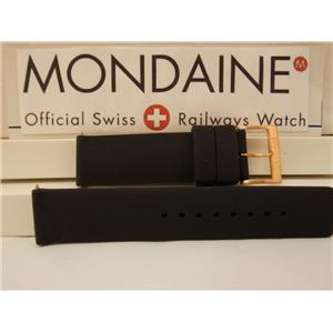 Mondaine Swiss Railways Watch Band 22mm Silicone Rubber Diver/Sport. 4mm Thick