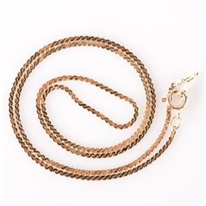 "14k Yellow Gold Traditional Italian Made Serpentine Chain Necklace 18"" Length"