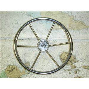 """Boaters' Resale Shop of TX 1611 2425.04 STAINLESS STEEL 15"""" STEERING WHEEL"""