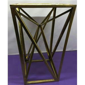 Madison Park Modern Maxx Gold Angular Square Mirror Accent Table Goldtone Finish