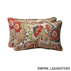 Set of 2 Pillow Perfect 450018 Multicolored Zoe Rectangular Toss Pillows