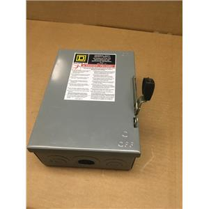 Square D D321N 30A 240VAC General Duty Safety Switch