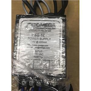 Omega PSS-10 Power Supply 10V at 400mA 115VAC 50/60Hz