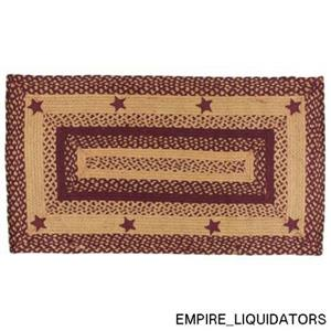 """IHF HOME DECOR Area Accent Braided Rug Rectangle Floor Carpet 20"""" X 30"""""""